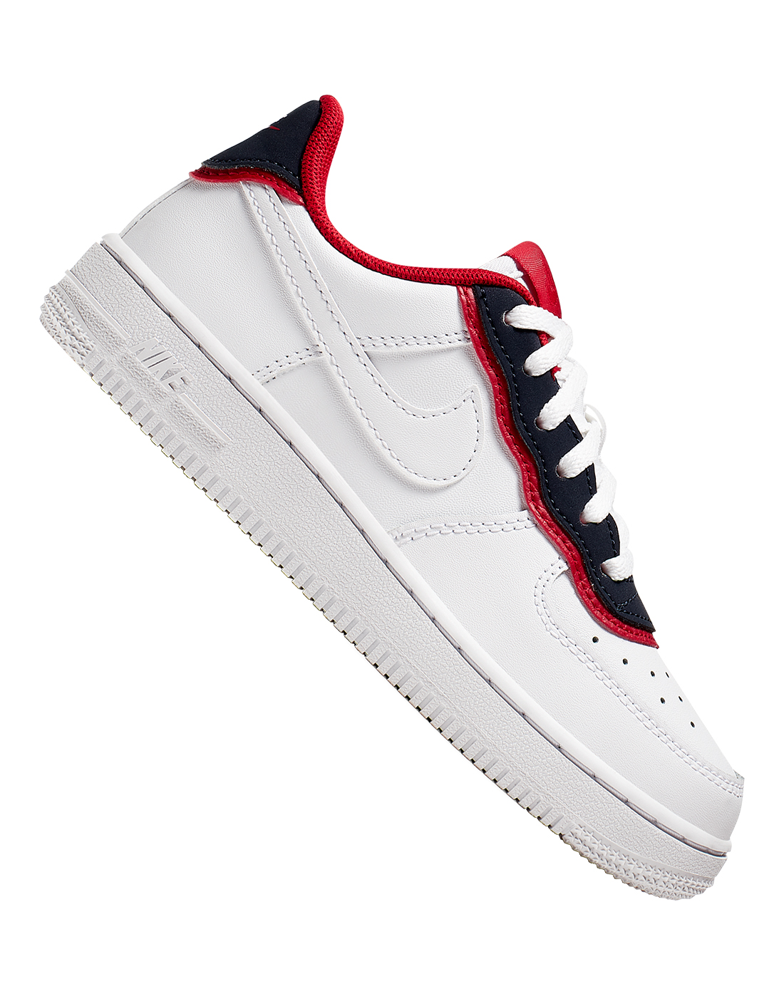 brand new 5f51f f500d Young Kid's White, Black & Red Nike Air Force 1 | Life Style Sports