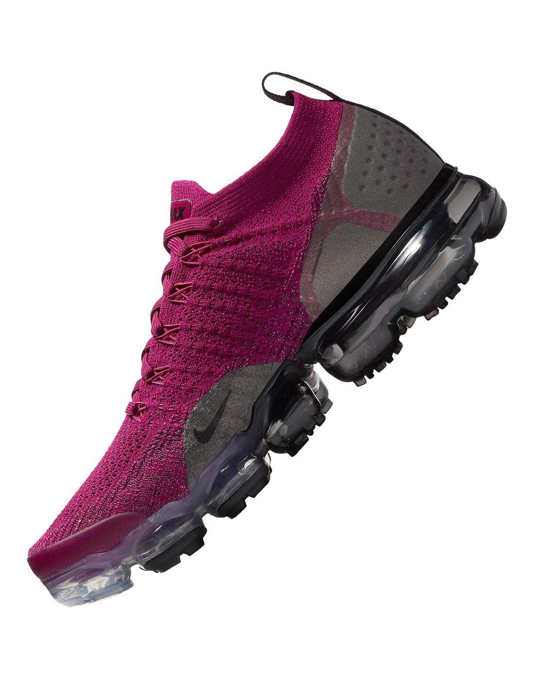 Women S Burgundy Nike Vapormax Flyknit Life Style Sports