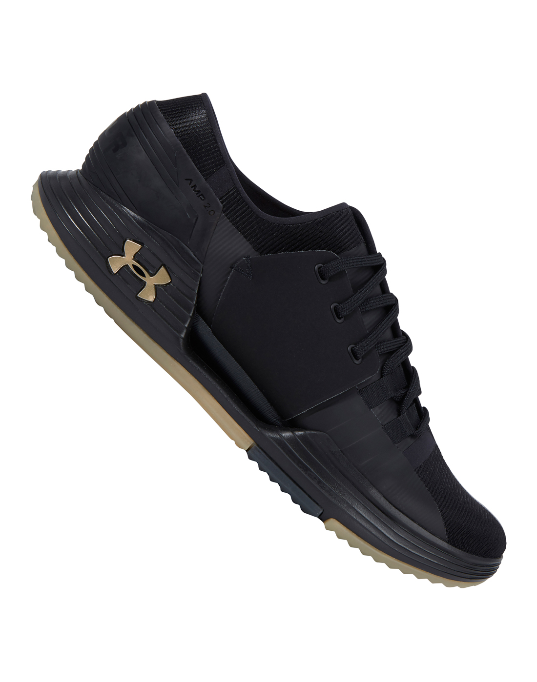 Under Armour SpeedFoam AMP 2.0 Mens Training Shoes Black Supportive Gym Trainers