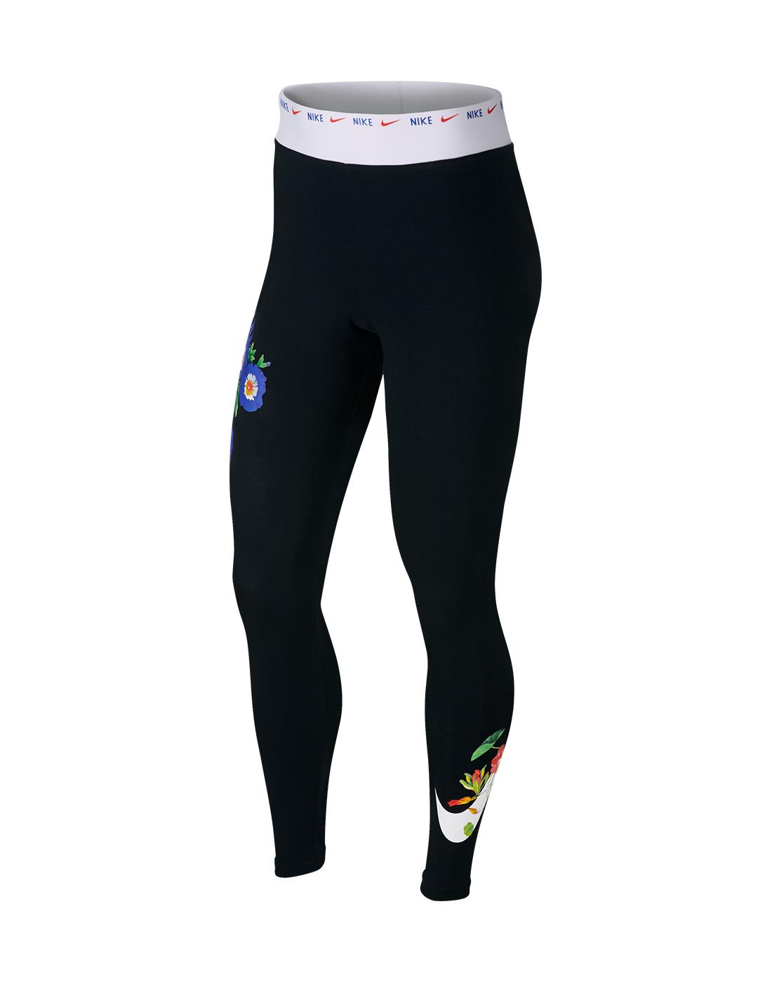 f99ddcba17bd2 Women's Black Nike Floral Leggings | Life Style Sports