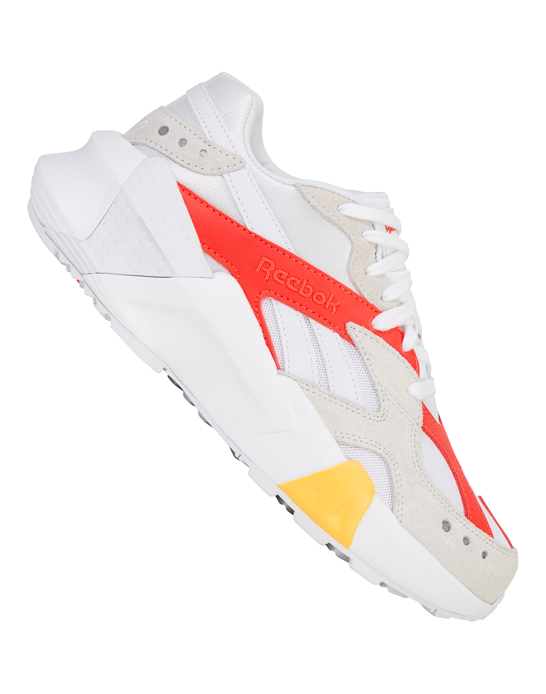8de8cafc58a White   Orange Reebok Gigi Hadid Trainers Aztrek