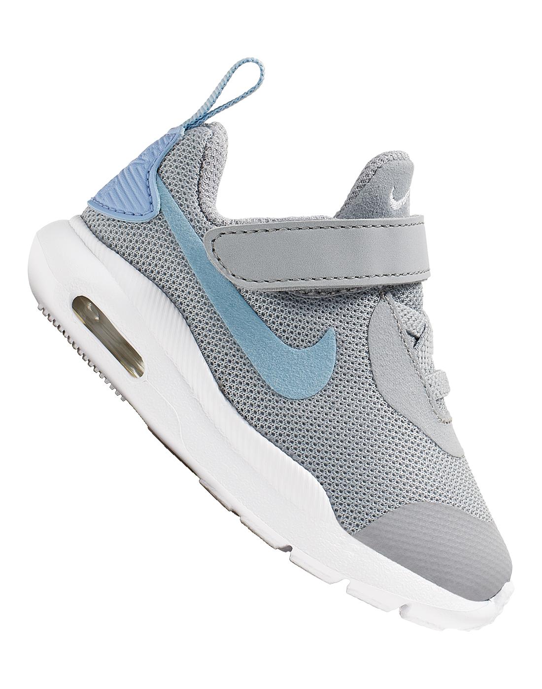 Infants Grey \u0026 Blue Nike Air Max Oketo