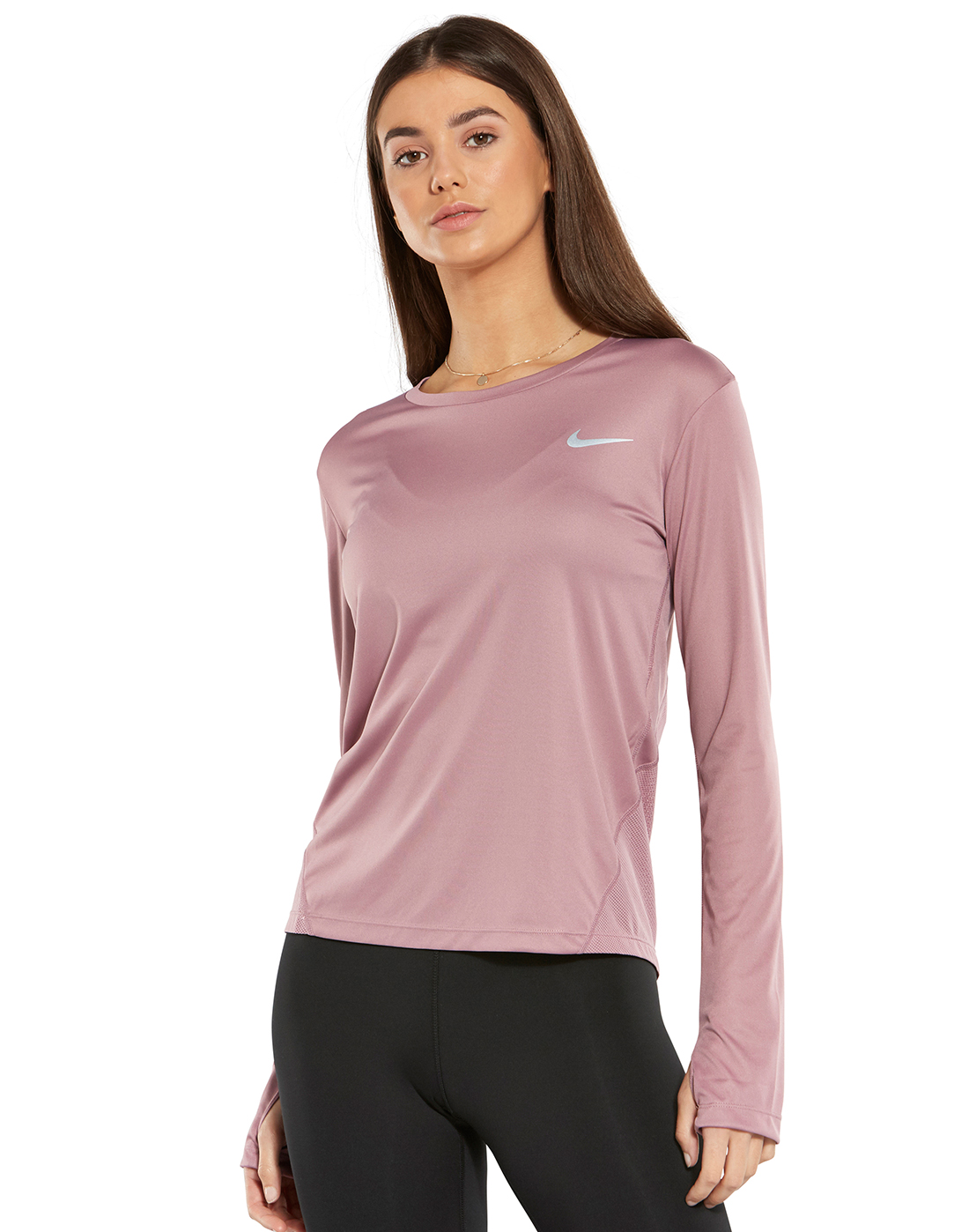984b3b4d Women's Pink Nike Long Sleeve Running T-Shirt | Life Style Sports
