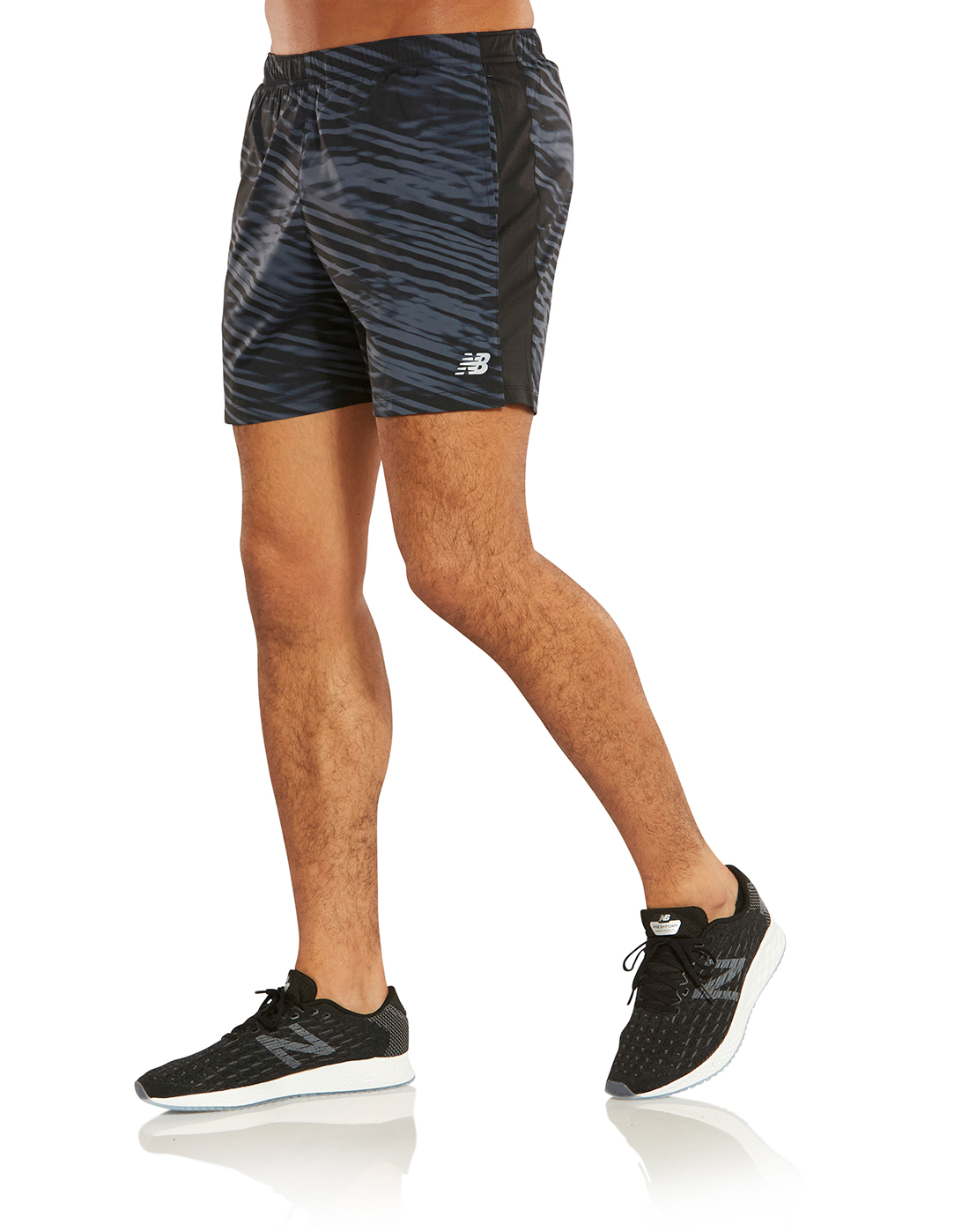 116321737940d New Balance Mens Printed Accelerate 5 Inch Shorts   Life Style Sports