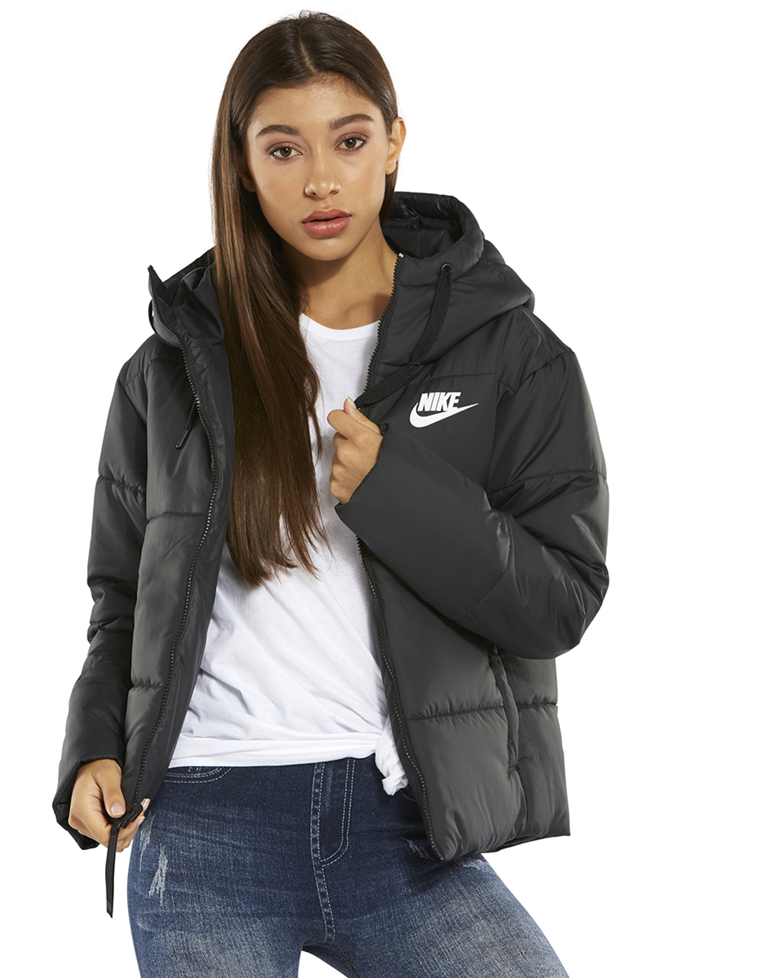 e1472f575aec Women s Black Nike Reversible Padded Jacket