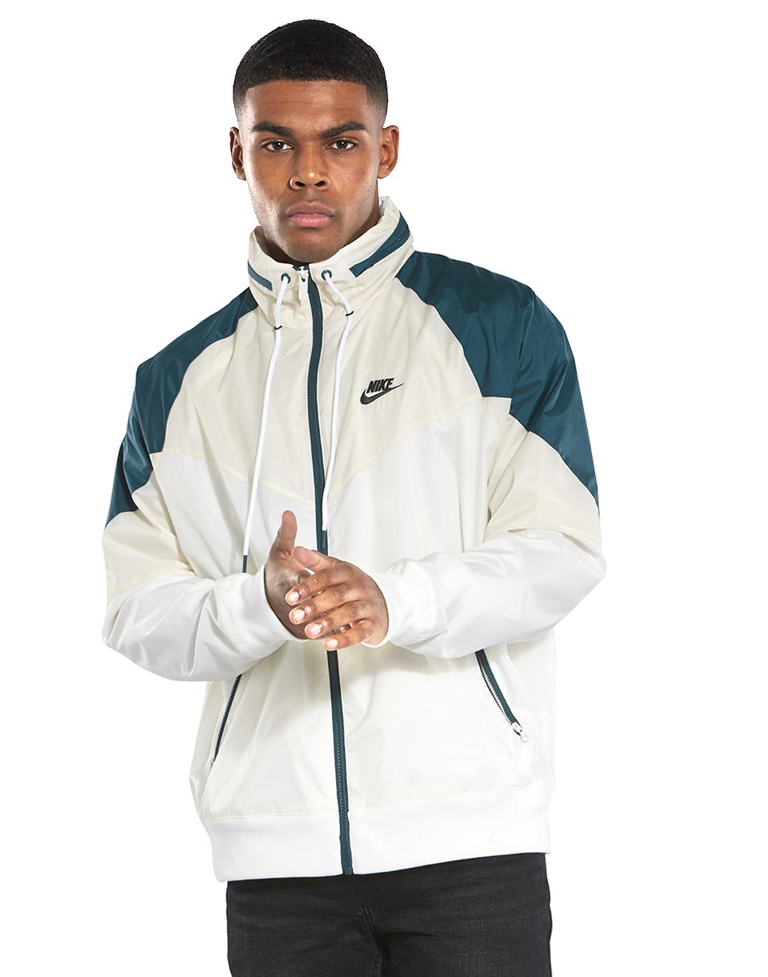 6368ff388351 Men s Cream   Green Nike Windrunner Jacket