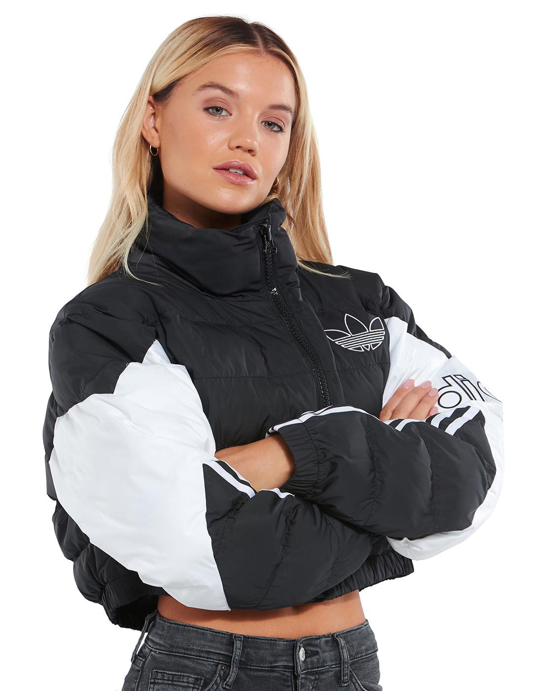 UO Chevron Cropped Puffer Jacket | Cropped puffer jacket