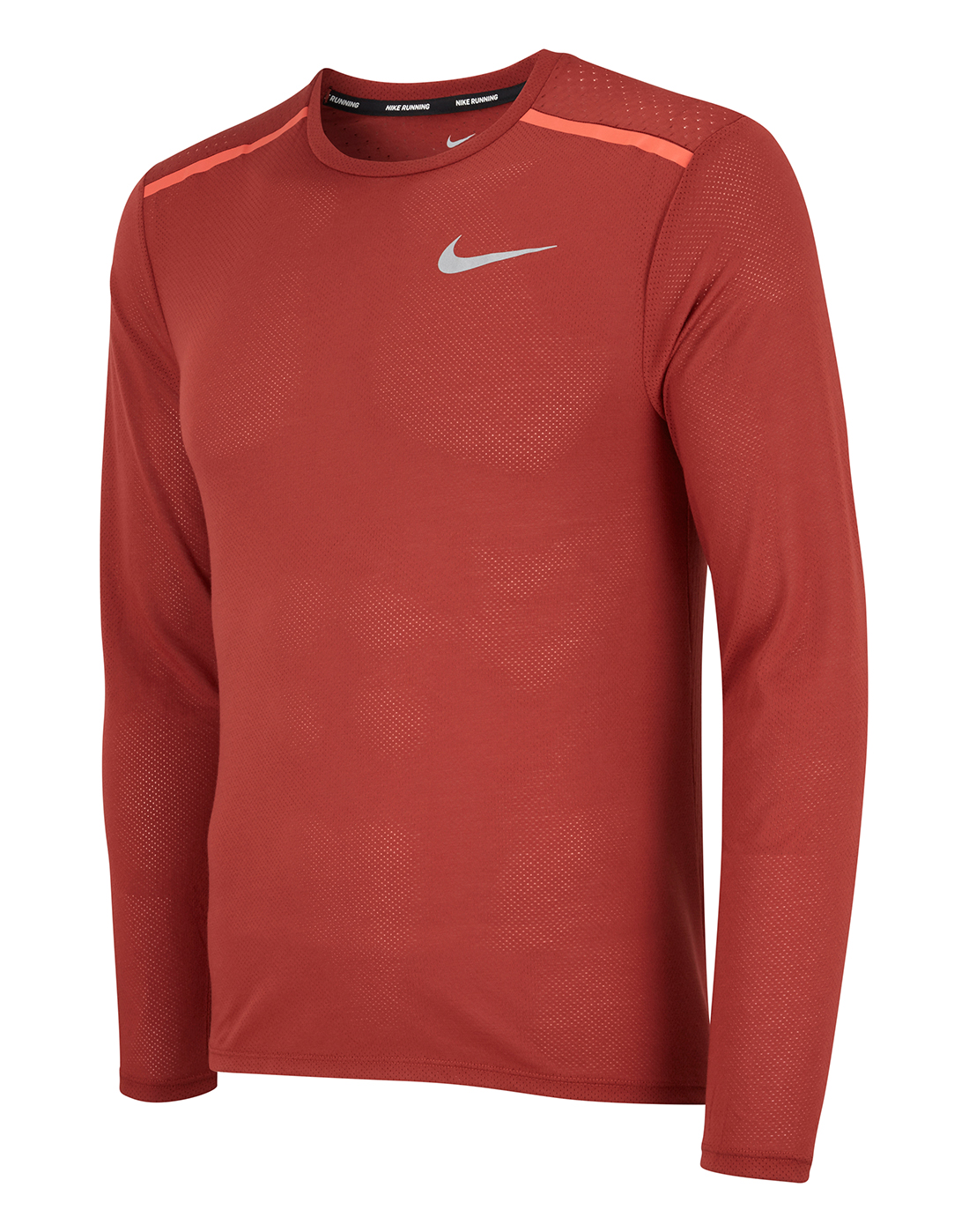 c461fa0b3271 Men's Red Nike Breathe Long Sleeve Running Top | Life Style Sports