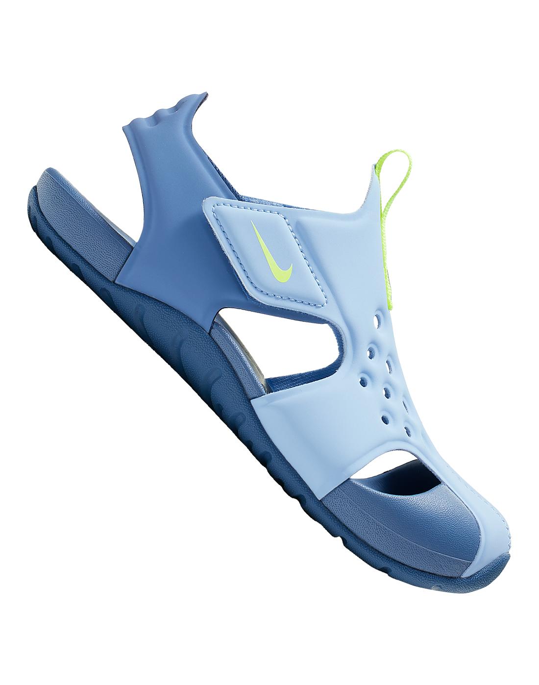 prefacio Absoluto Casa de la carretera  Young Kid's Blue Nike Sunray Protect Sandals | Life Style Sports