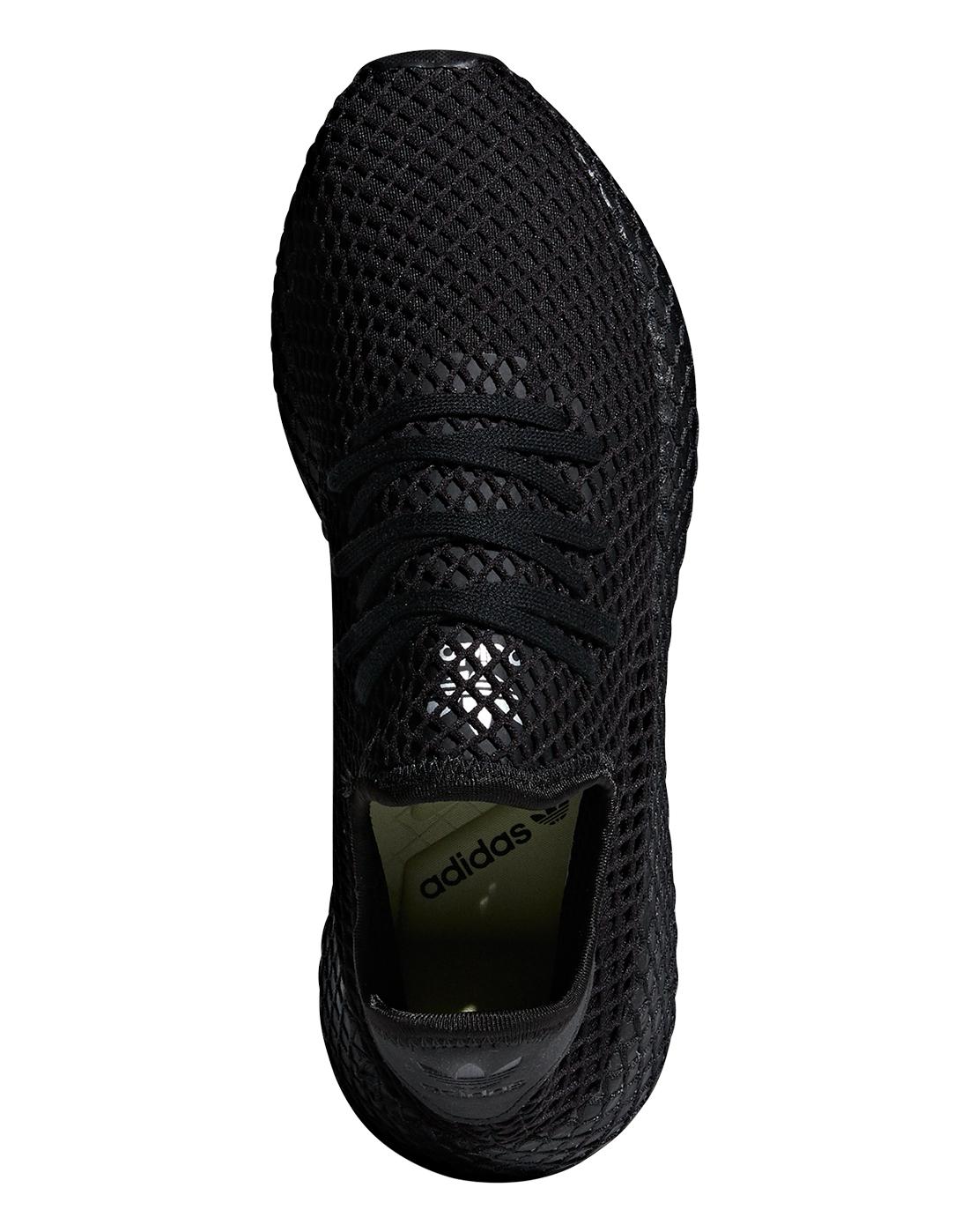Men's adidas Originals Deerupt   Triple Black   Life Style