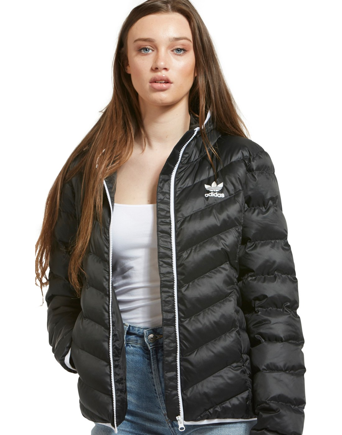 9dc7fcfa Women's adidas Originals Slim Jacket | Black | Life Style Sports