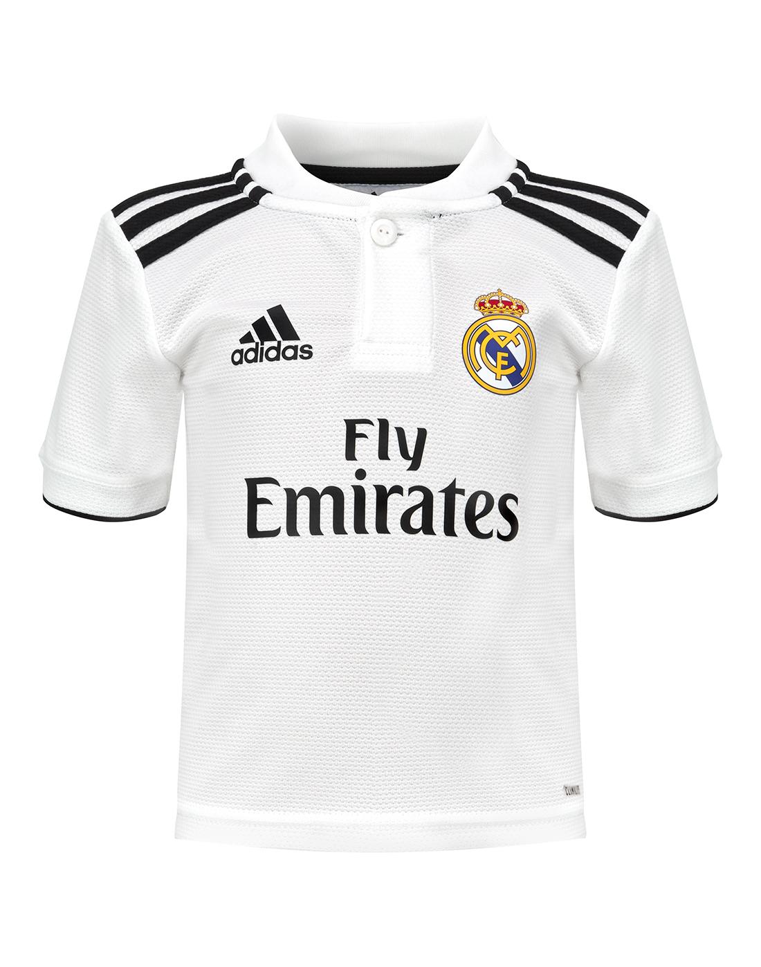 ca54bb5170c07 Kids Real Madrid 18/19 Home Kit | adidas | Life Style Sports
