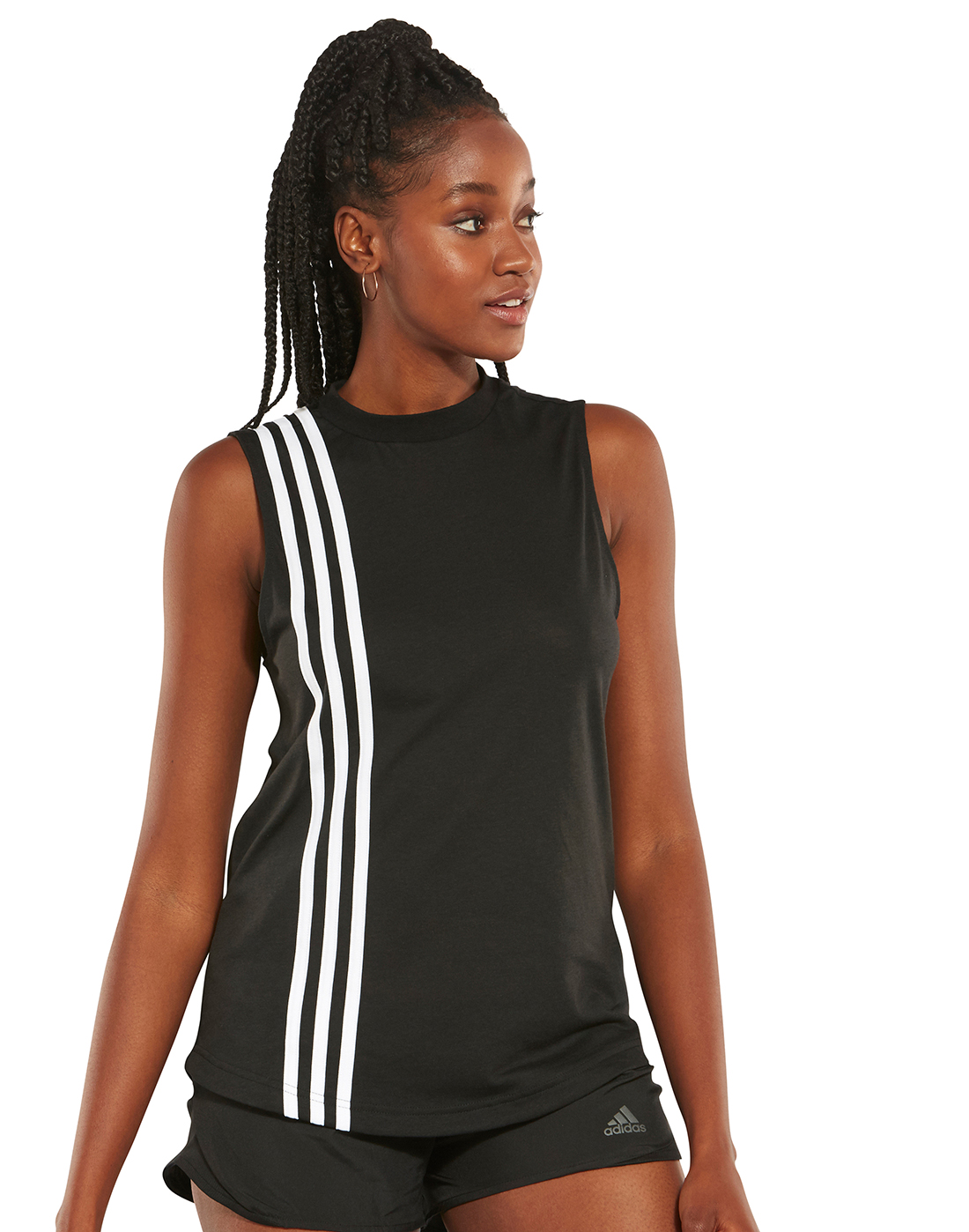 7280d0974ac08 Women's Black & White adidas 3-Stripe Tank Top | Life Style Sports