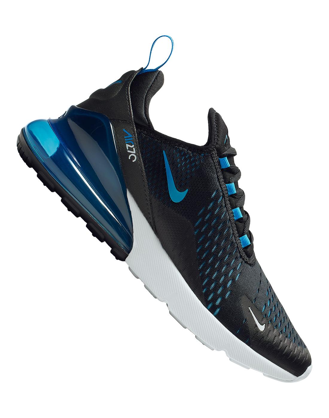 Men's Black \u0026 Blue Nike Air Max 270