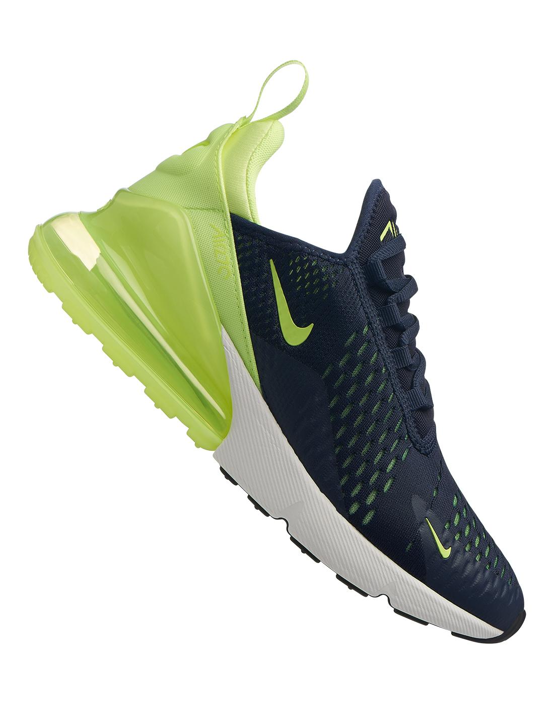 Women's Navy \u0026 Green Nike Air Max 270