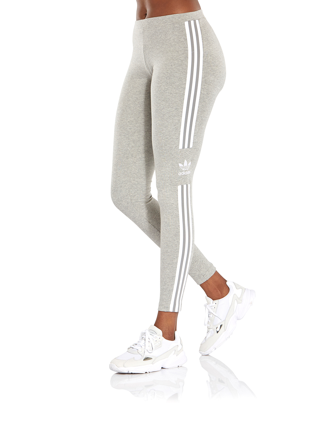 c05f3df2566 Women's Grey adidas Originals Trefoil Leggings | Life Style Sports