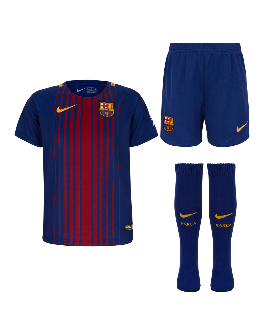 9f28902dc Nike Kids Barcelona 17 18 Home Kit
