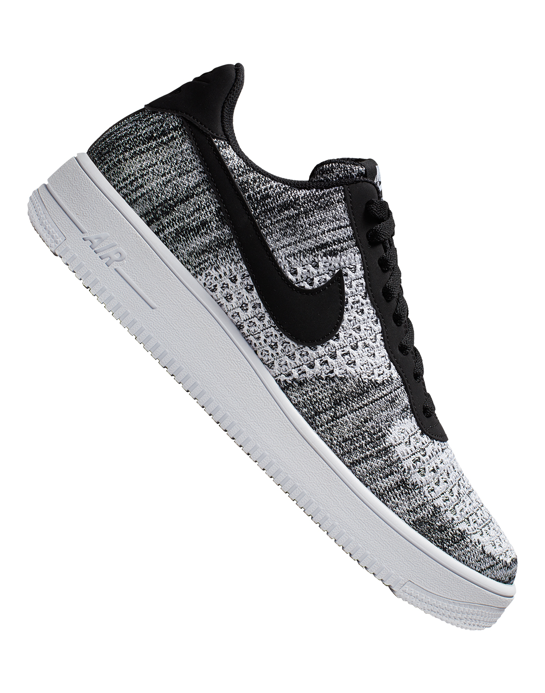 f2e6879277cc1 Men's Black & White Nike Air Force 1 Flyknit | Life Style Sports