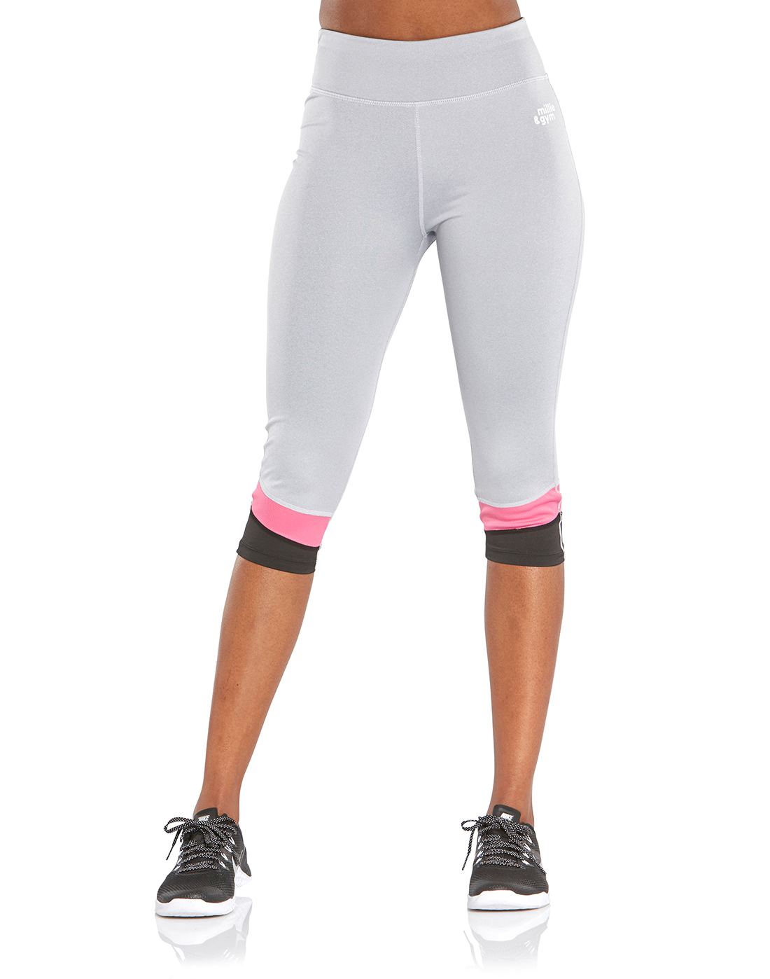 522d22fa13241 millie & gym Womens Pat Capri Leggings | Life Style Sports