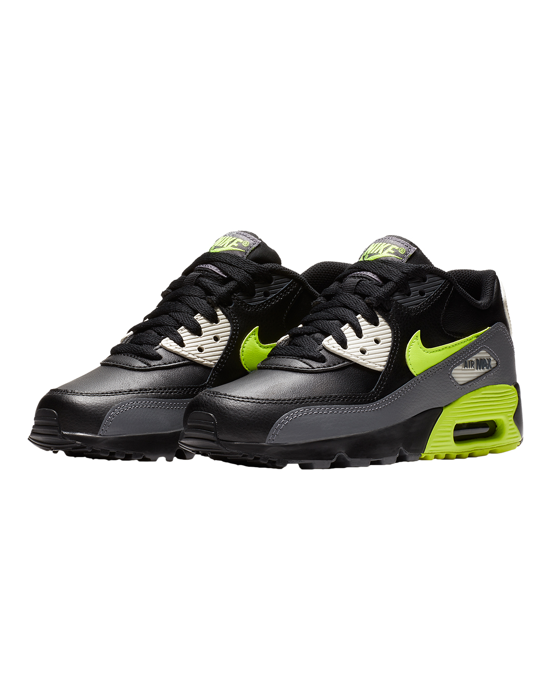 oben Boys Grey Nike Air Max 90 Leather | Life Style Sports