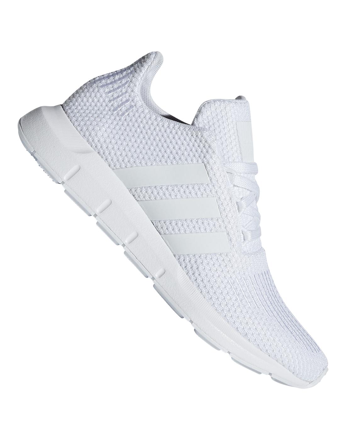 f54565946 Kid s White adidas Originals Swift Run