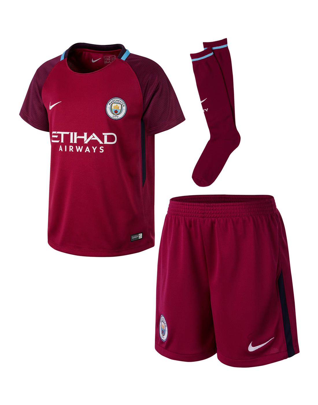 Nike Kids Man City 17 18 Away Kit  936acf955