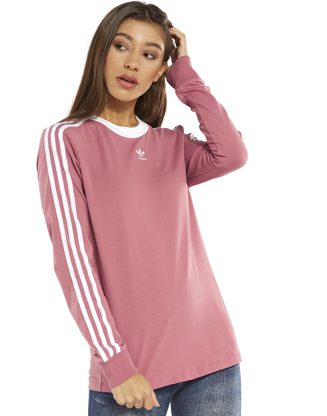 74ebdb9c397 Women s Pink adidas Originals Long Sleeve T-Shirt