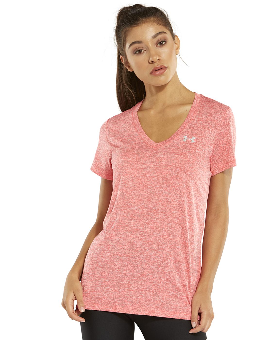 Women s Pink Under Armour Gym T-Shirt  d5202d6f93