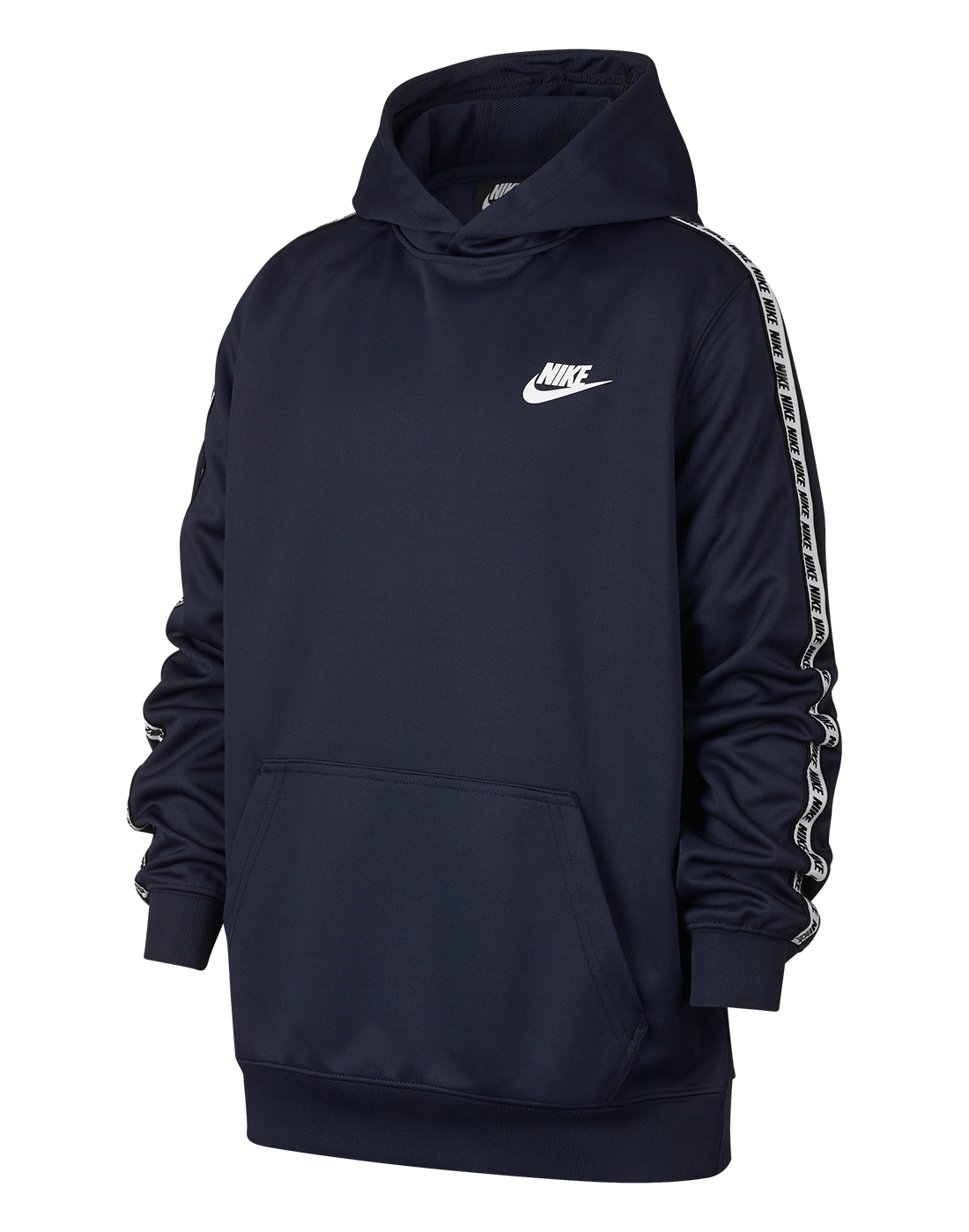6a92158d0af7 Boy s Navy Nike Logo Tape Hoodie
