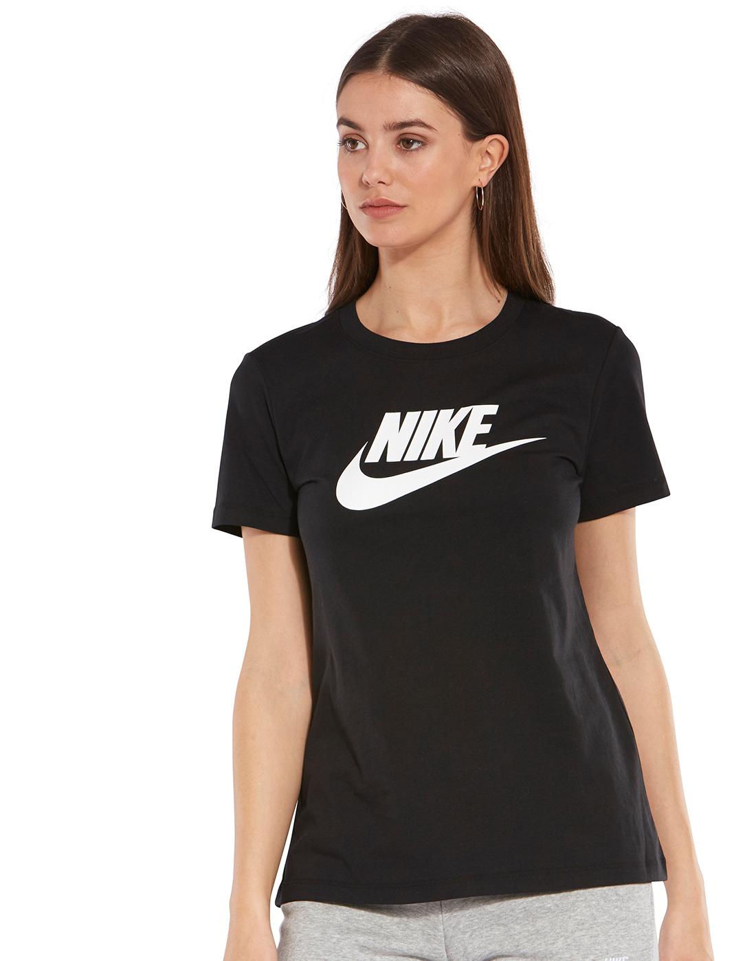 066d532740682 Women's Black Nike T-Shirt | Life Style Sports