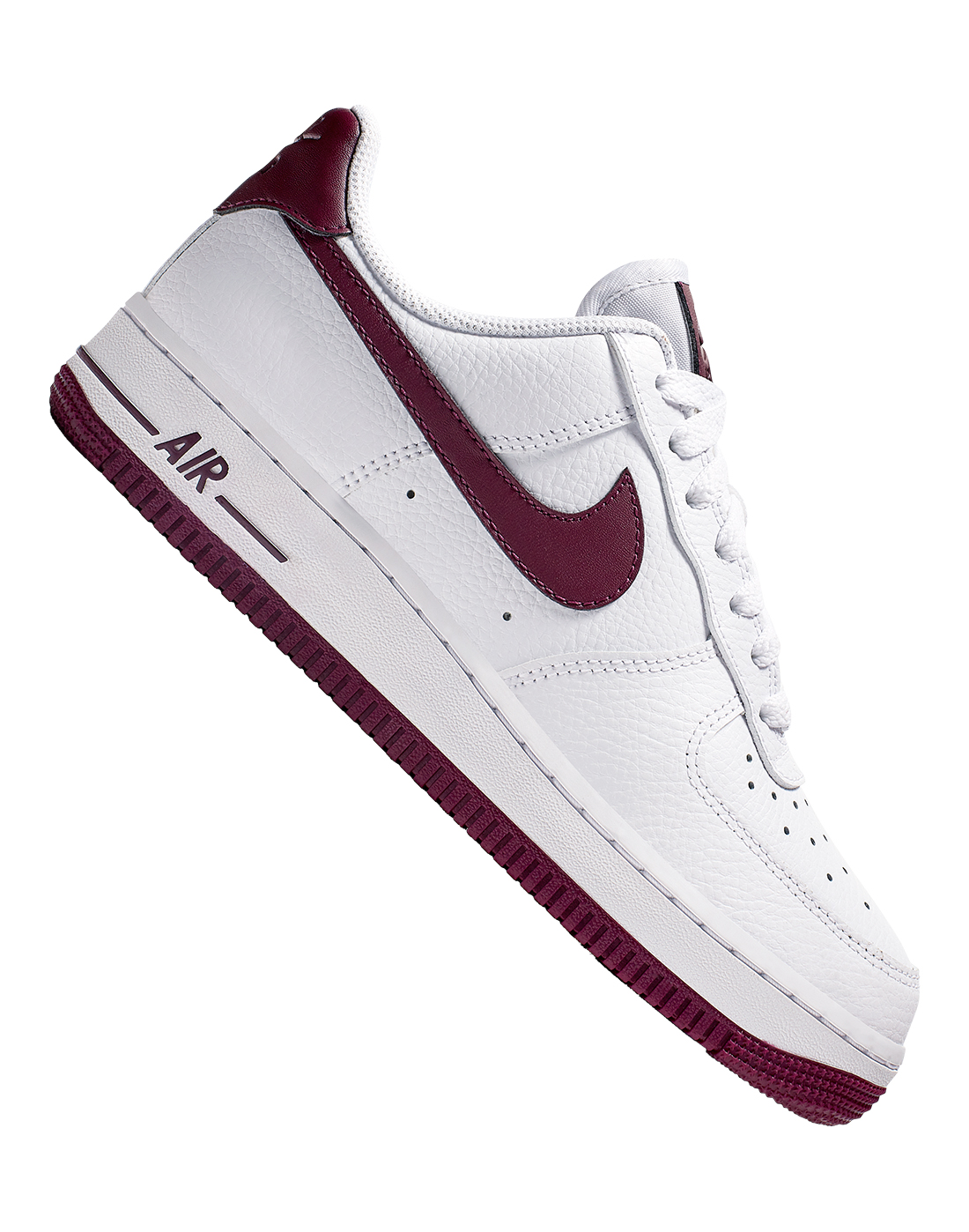 c199a6bfe8 Women's White & Burgundy Nike Air Force 1 | Life Style Sports