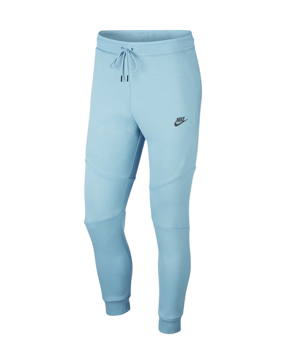 Nike Mens Tech Fleece Joggers Blue Life Style Sports Uk