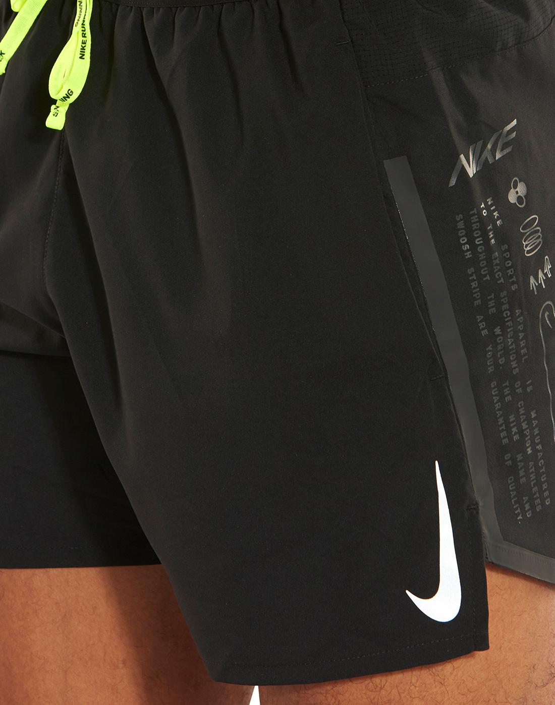 Nike Mens Air Flex Stride 5 Inch Shorts Black Life Style Sports Eu