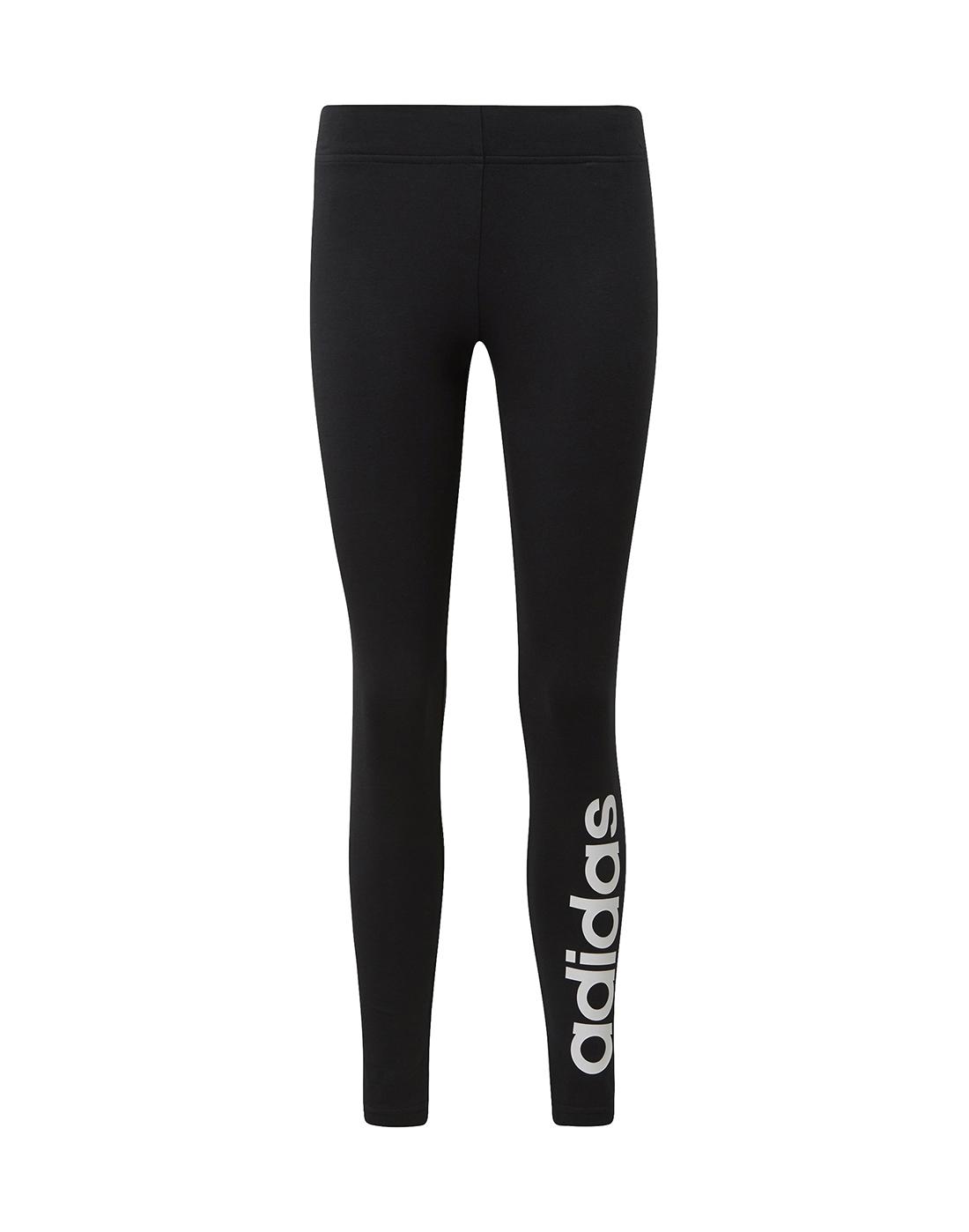 b01522f6abf97 Women's Black adidas Linear Leggings   Life Style Sports