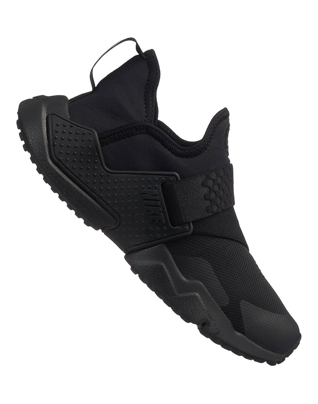 cc4c660ce09b Kids Triple Black Nike Huarache Extreme