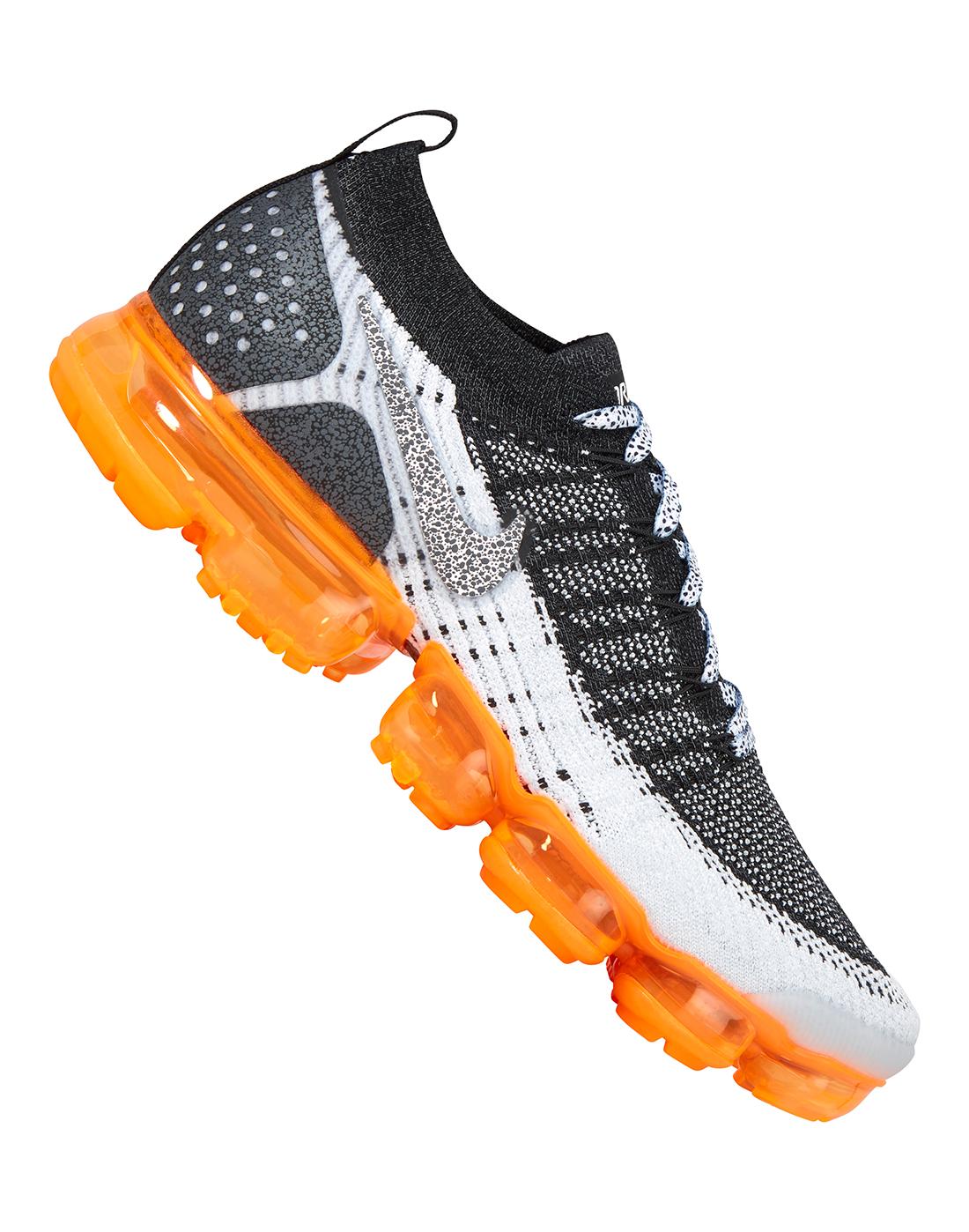 c40c2ad74be23 Men s Black   Orange Nike Vapormax Flyknit 2 Safari
