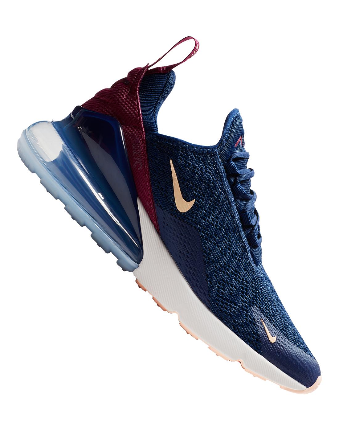 Women s Navy Nike Air Max 270  099363bc4