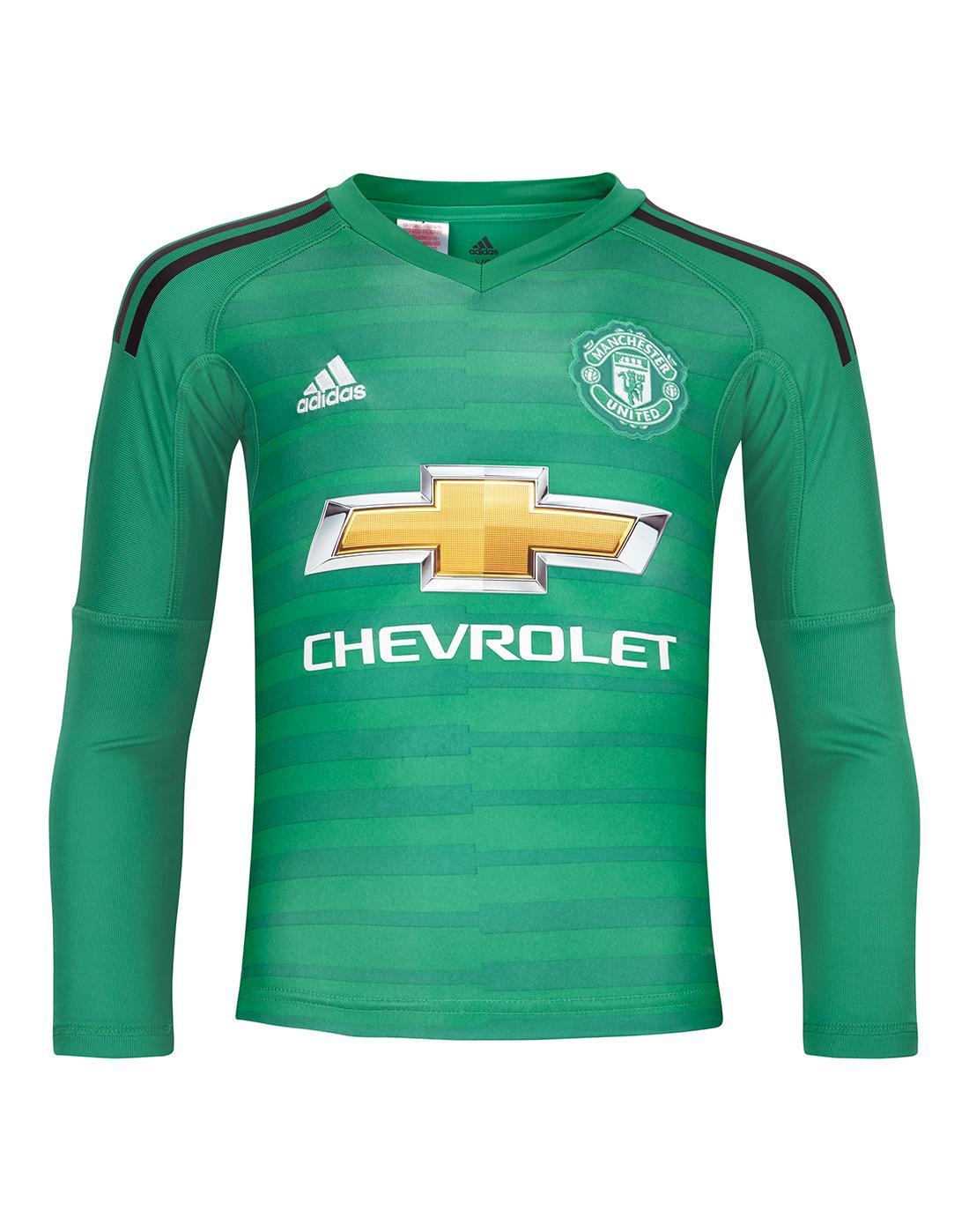e14313bef59 Kids Man United 18 19 Goalkeeper Home Jersey
