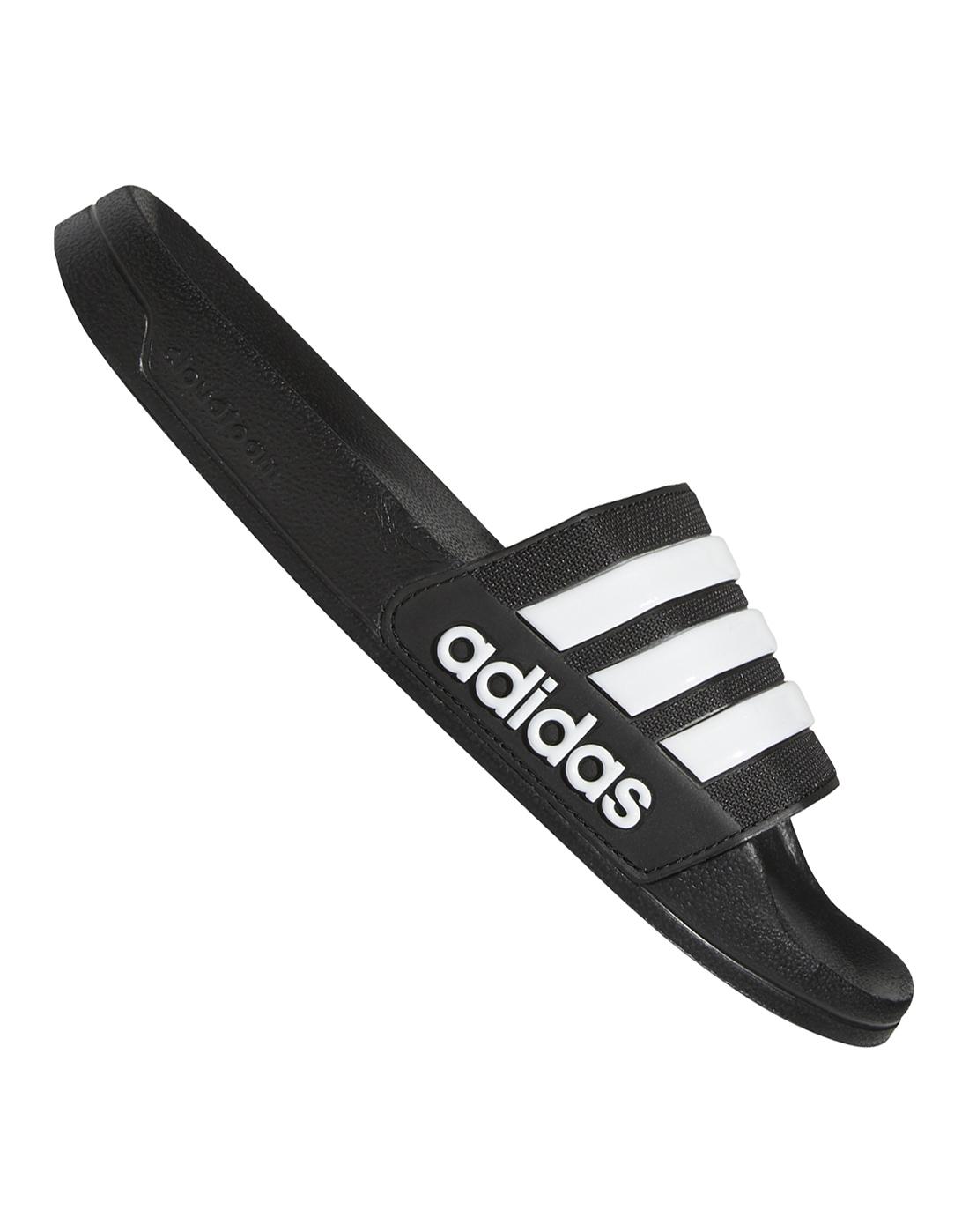 64ecd7f3b Men s Black   White adidas Slides