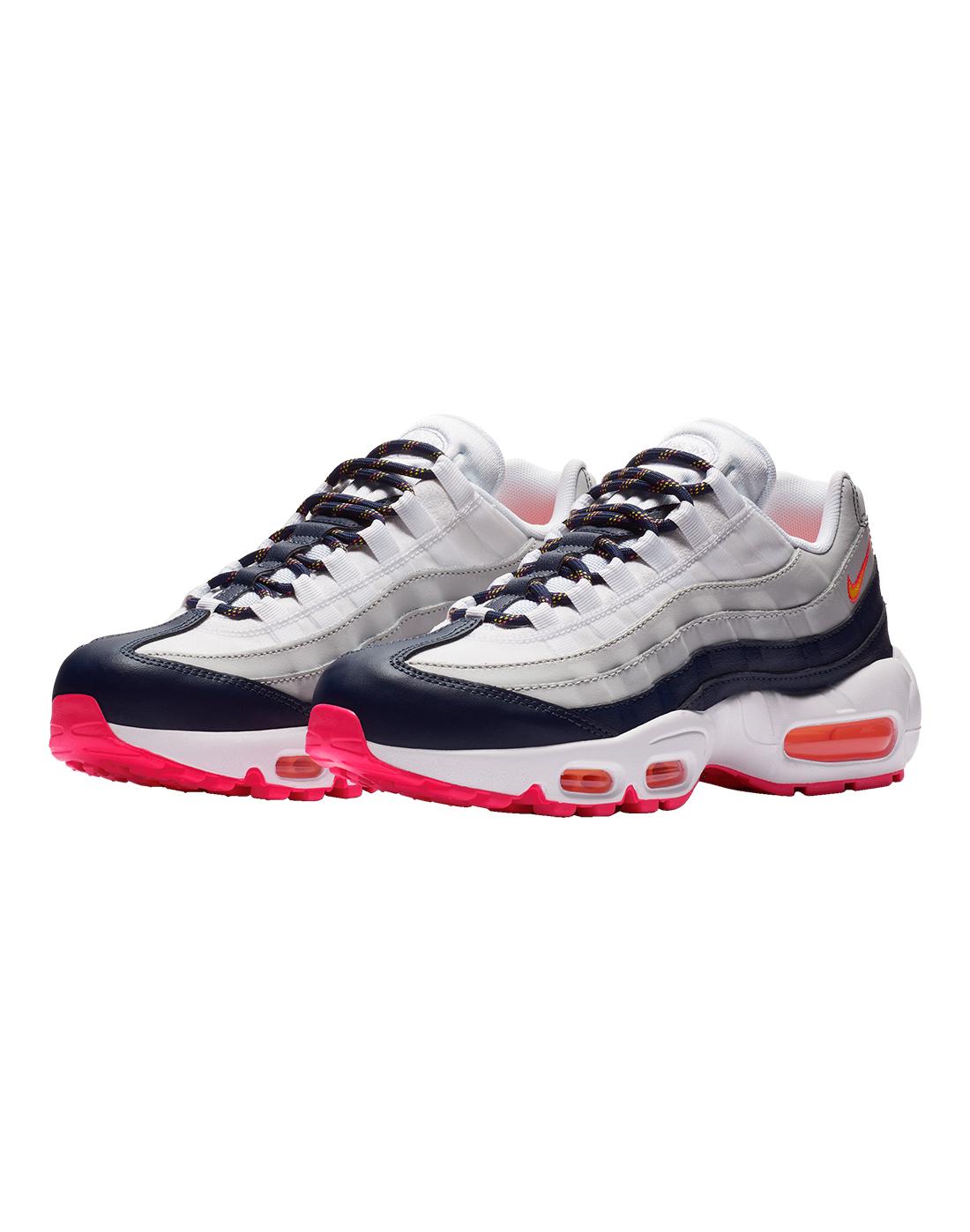 843b4ae690 Women's Pink, Blue & White Nike Air Max 95 | Life Style Sports