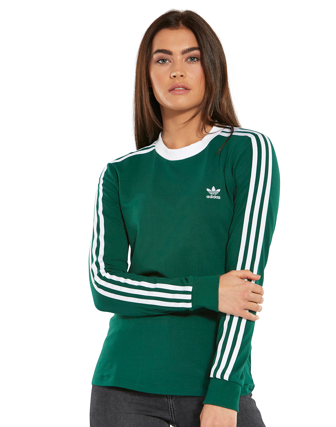 f5ca9ab157fc0 Women's Green adidas Originals Long Sleeve Top | Life Style Sports