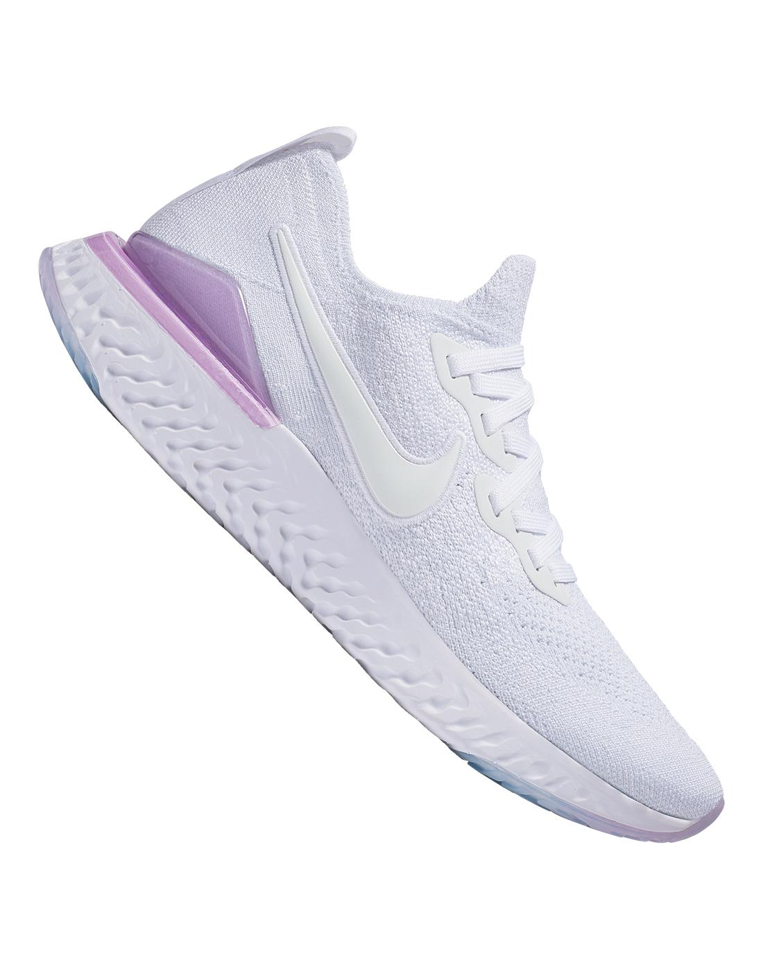 Women's White \u0026 Pink Nike Epic React