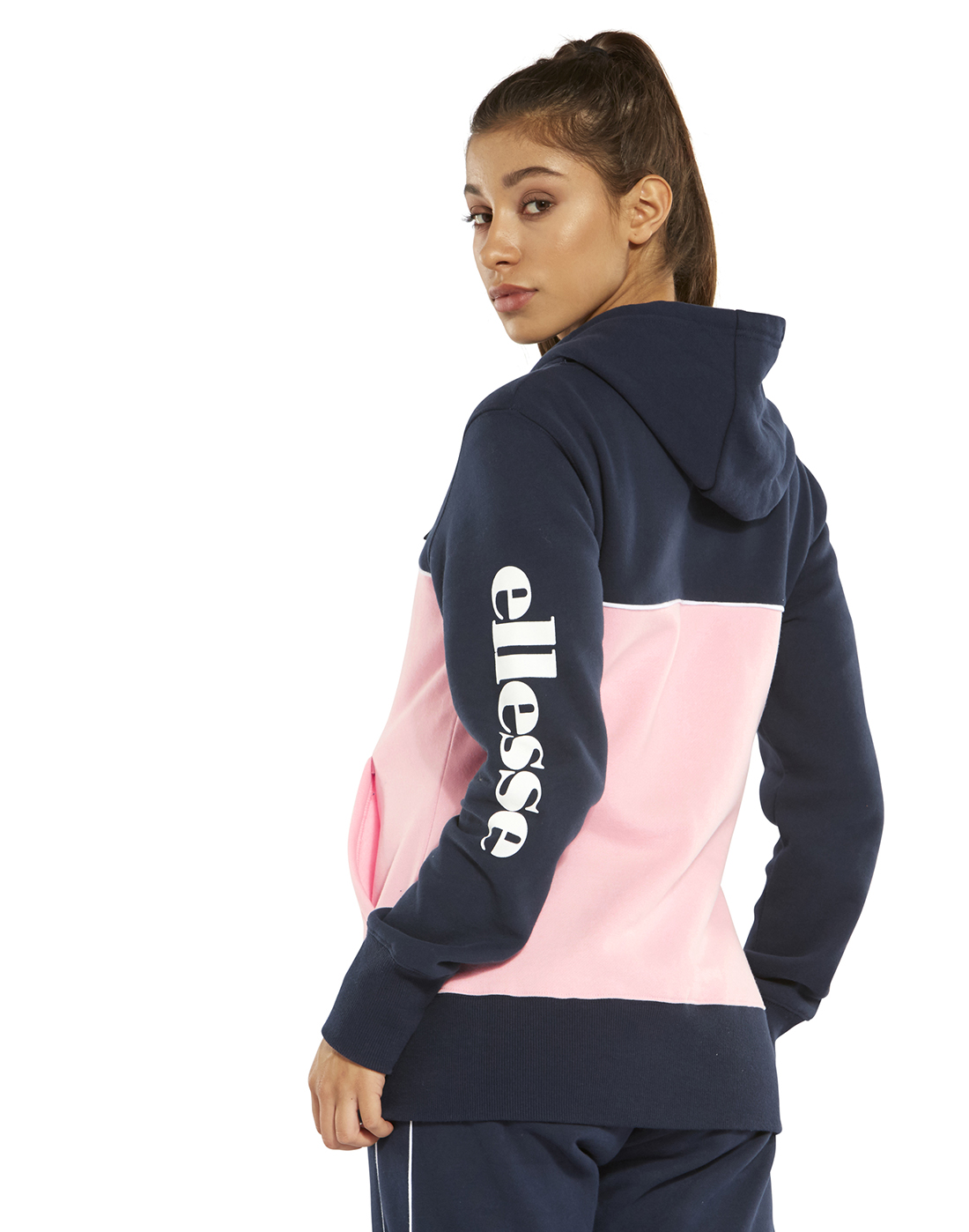 1c4aed06a6 Women's Navy & Pink Ellesse Hoodie | Life Style Sports