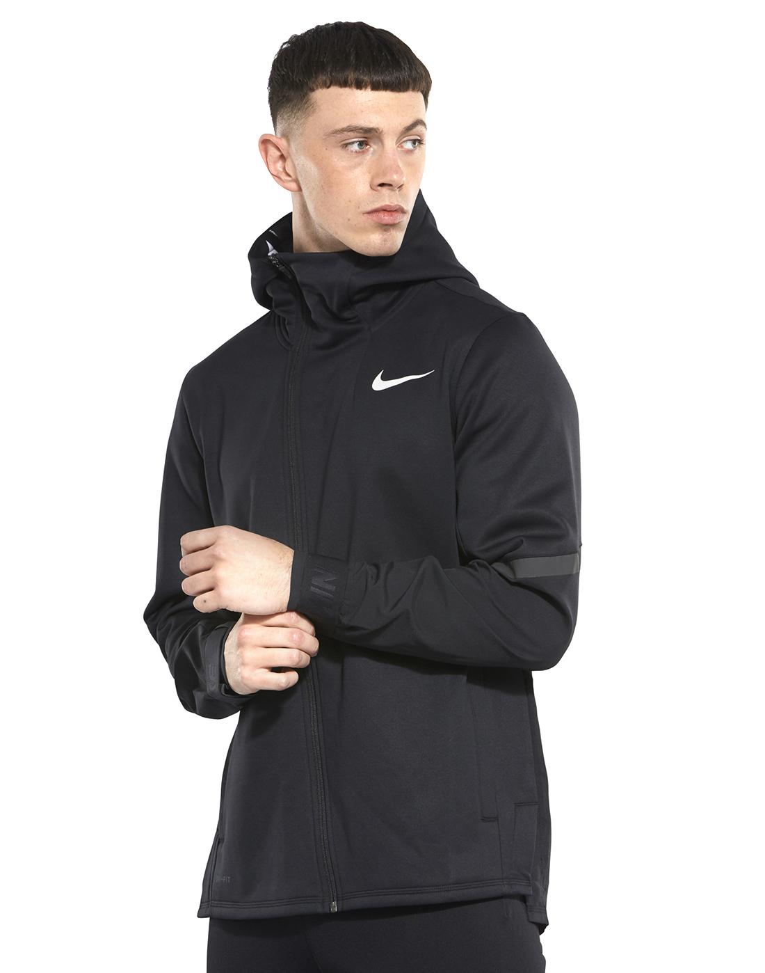 49264ea207d40 Men's Black Nike Therma Hoodie | Life Style Sports
