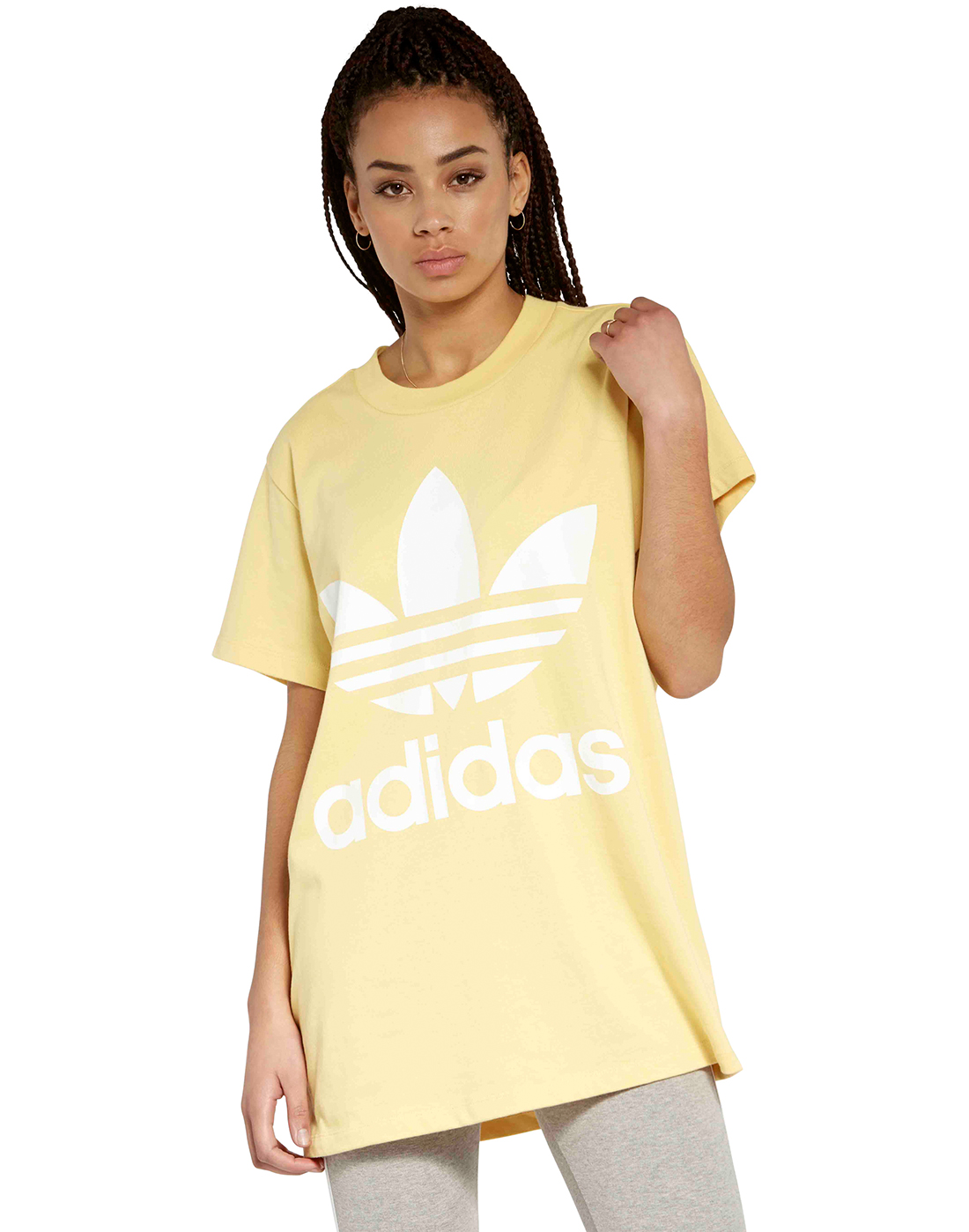 461d3d1e00d5 Women s Yellow adidas Originals Big Trefoil T-Shirt