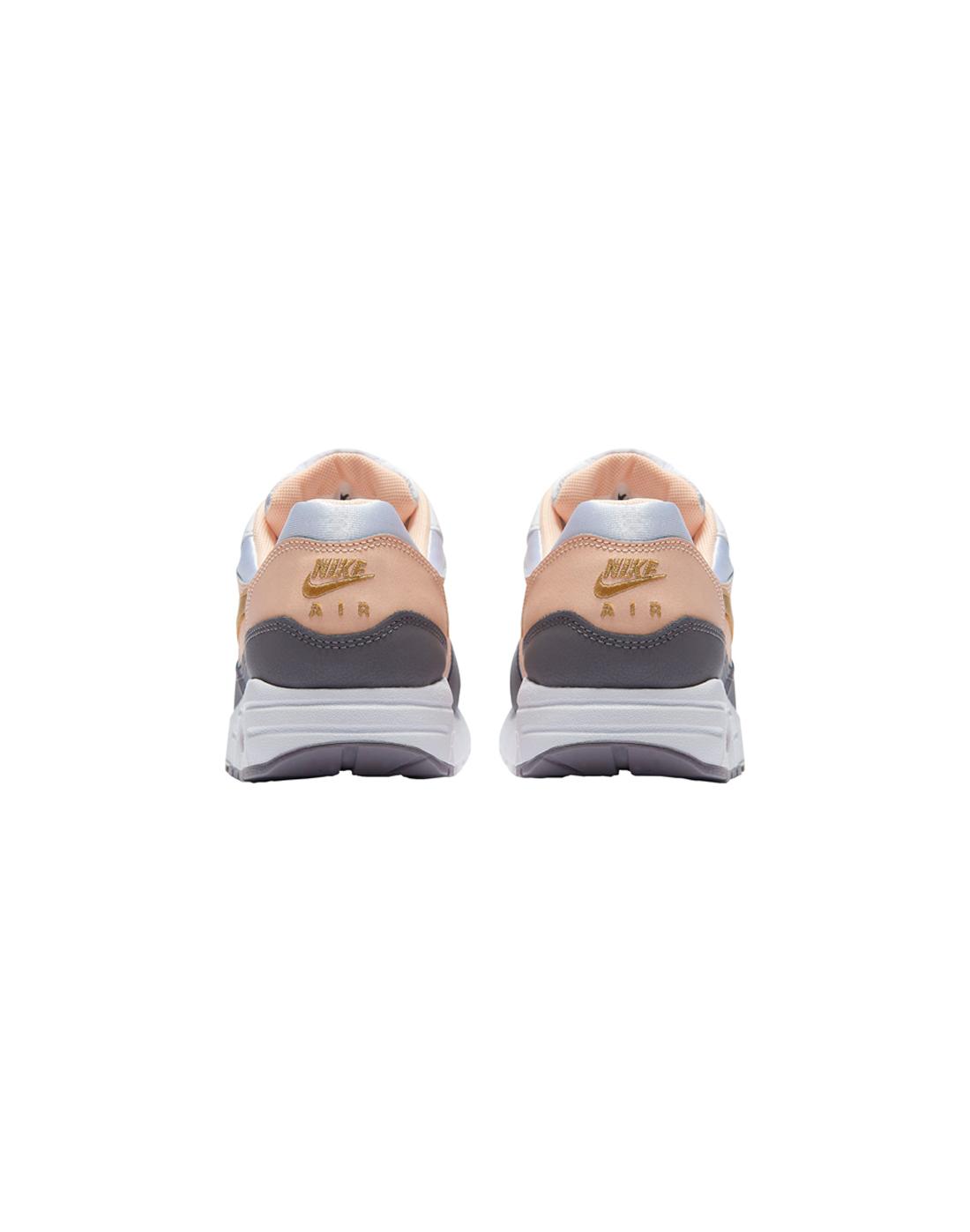 f36084b28b81b Girls Nike Air Max 1 | Peach & Grey | Life Style Sports