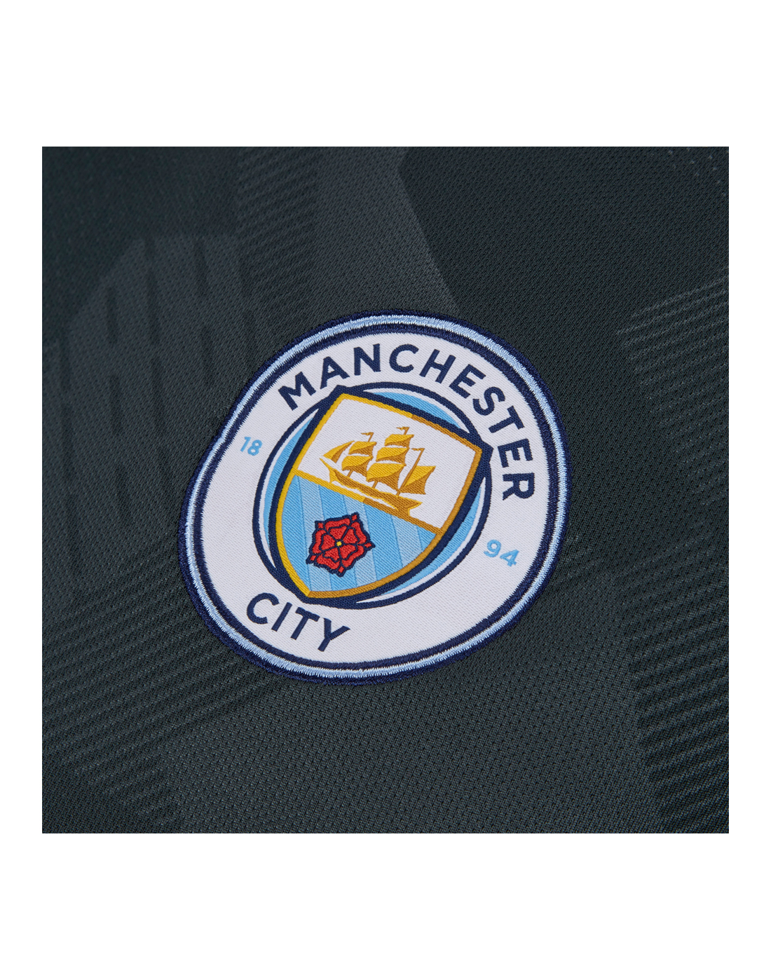 Nike Adult Man City Third 17 18 Jersey Life Style Sports Tendencies Tshirt Fake Ghost Hitam Xxl