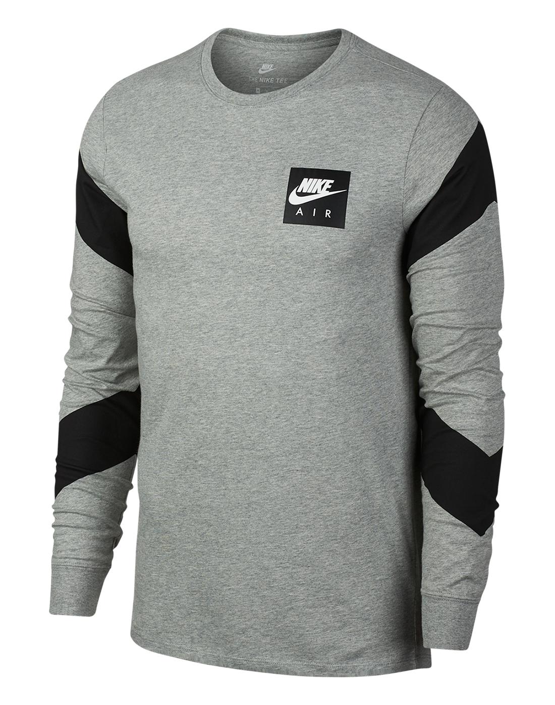 90605460 Men's Grey Nike Air Long Sleeve T-Shirt | Life Style Sports
