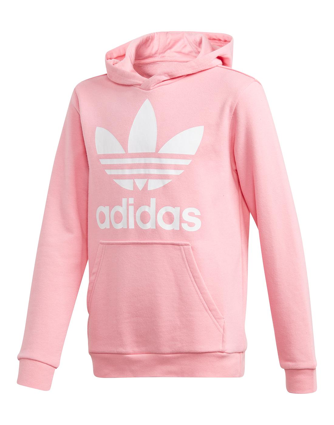 b5bcf9f9018d Girl s Pink adidas Originals Hoodie
