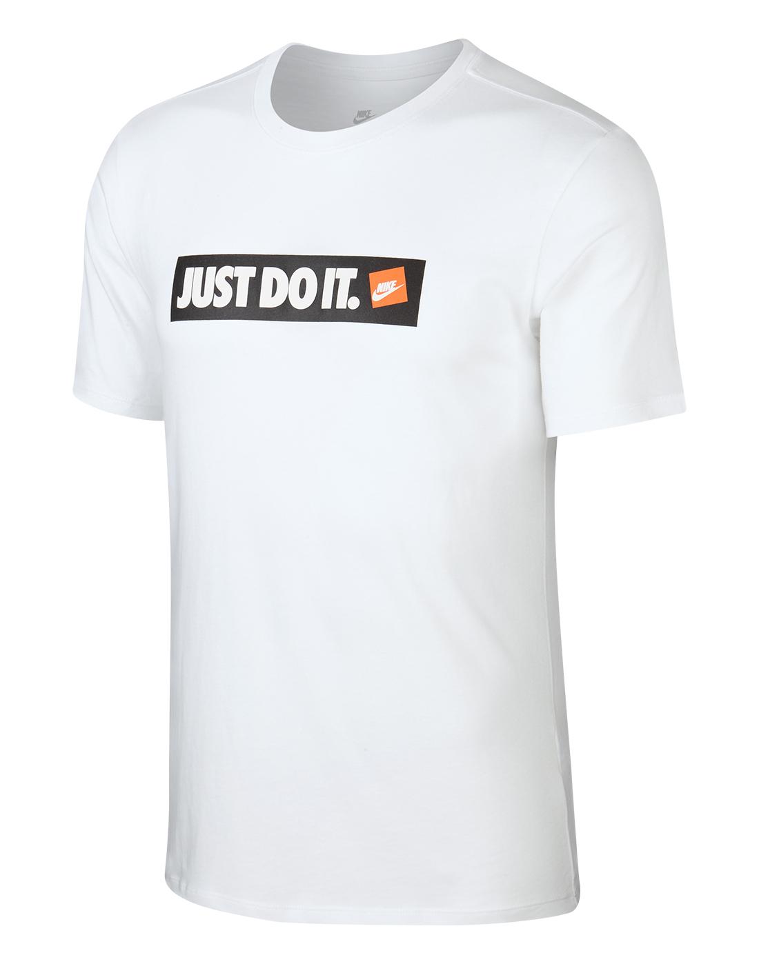 Men's White Nike Just Do It T-Shirt